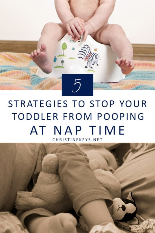 5 Strategies to Stop Your Toddler from Pooping at Nap Time || If you're wondering how to get your toddler to stop pooping during nap time then try these 5 strategies! #parenting #pottytraining #toddlers #naptime #motherhood