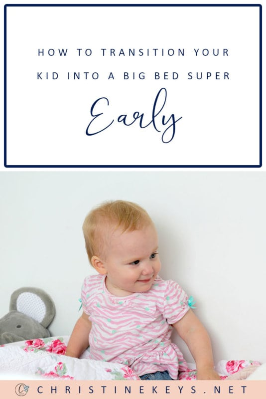 How to Transition Your Kid Into a Big Bed Super Early || Find out why moving your baby from a crib to a bed isn't as daunting and difficult as you think. Use these tips to help ensure a smooth transition. #toddlers #toddlersleep #parenting #motherhood #babies #parentingtips