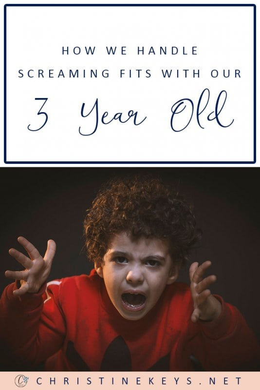 How We Handle Screaming Fits with our 3-Year Old || Find out what 7 practical tips we use to help work through screaming fits and tantrums. #parenting #toddlers #tantrums #discipline #motherhood