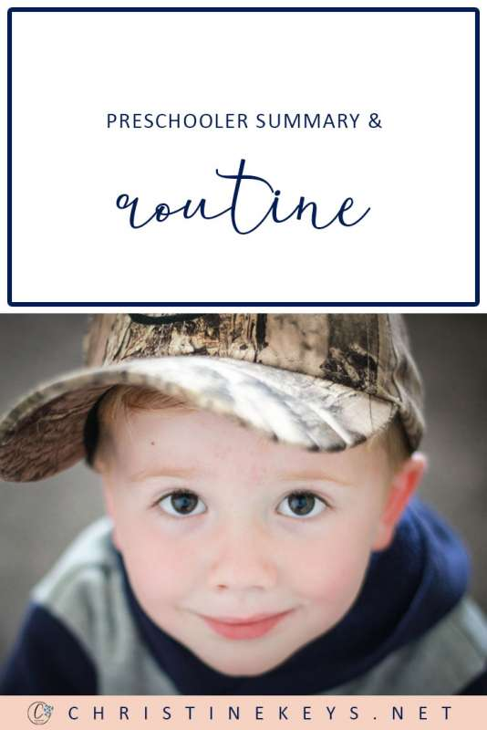Preschooler Summary & Routine || Read about Jack's routine at 3-years old. Find out what milestones he has reached and what he is learning. #parenting #preschooler #preschoolerroutine #routine #toddler #motherhood