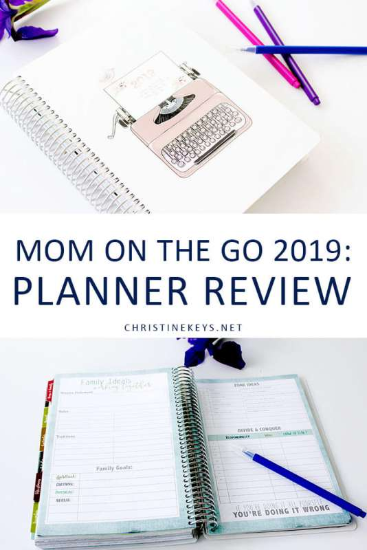 Mom on the Go 2019: Planner Review || Find out all about the 2019 Mom on the Go paper planner and see if it's the right planner for you.