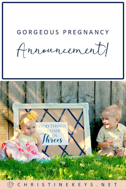 Gorgeous Pregnancy Announcement || Find out how we announced our pregnancies with all three of our children! #pregnancy #motherhood #parenting #pregnancyannouncement #babies #baby