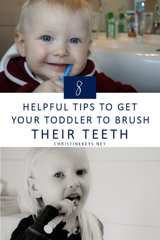 8 Helpful Tips to Get Your Toddler to Brush Their Teeth || Use these strategies to make oral hygiene a part of your toddlers routine without major pushback! #parenting #toddlers #oralhygiene #routine #motherhood