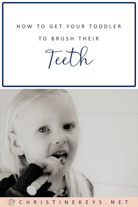 How to Get Toddlers to Brush Their Teeth || Use these strategies to make oral hygiene a part of your toddlers routine without major pushback! #parenting #toddlers #oralhygiene #routine #motherhood