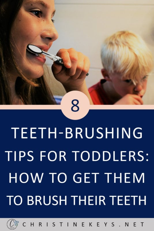 8 Teeth-Brushing Tips for Toddlers: How to Get Them to Brush Their Teeth || Use these strategies to make oral hygiene a part of your toddlers routine without major pushback! #parenting #toddlers #oralhygiene #routine #motherhood