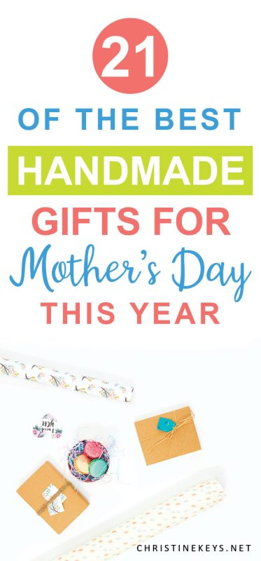 Infographic about the best handmade gifts for moms