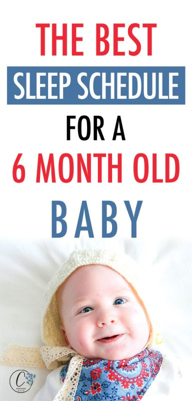 Pinterest image about a sleep schedule for a 6 month old