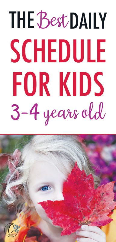 Pinterest image about the best schedules for kids 3-4 years old