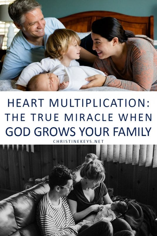 Heart Multiplication: The True Miracle that Happens When God Grows Your Family || The conception of a child is a miracle in and of itself, but there's another one that takes place as your family grows. #parenting #motherhood #babies #baby #newborn #family #siblings #love
