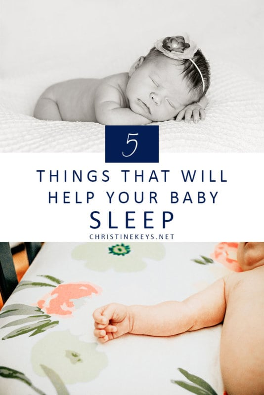 5 Things that Will Help Your Baby Sleep || Find out what useful things to have on hand to get your baby to sleep and sleep well. #baby #babies #parenting #motherhood #sleep #babysleep #babyproducts