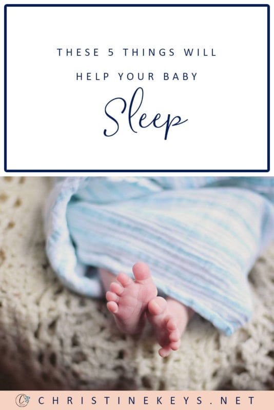 These 5 Things Will Help Your Baby Sleep || Find out what useful things to have on hand to get your baby to sleep and sleep well. #baby #babies #parenting #motherhood #sleep #babysleep #babyproducts