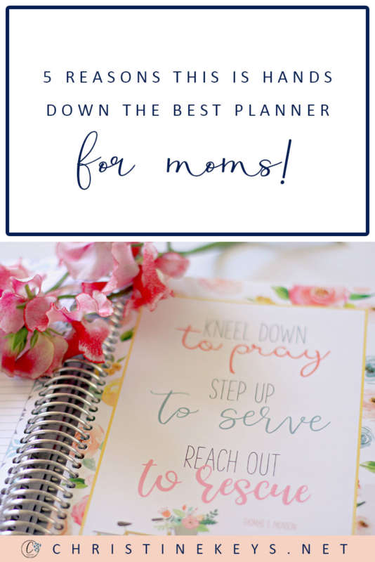 5 Reasons This Is Hands Down The Best Planner For Moms || If you're on the hunt for a planner that literally does it all and is perfect for moms, then this one has you covered! Read this post to find out why. #planner #paperplanner #organising #motherhood #parenting #floral #quotes