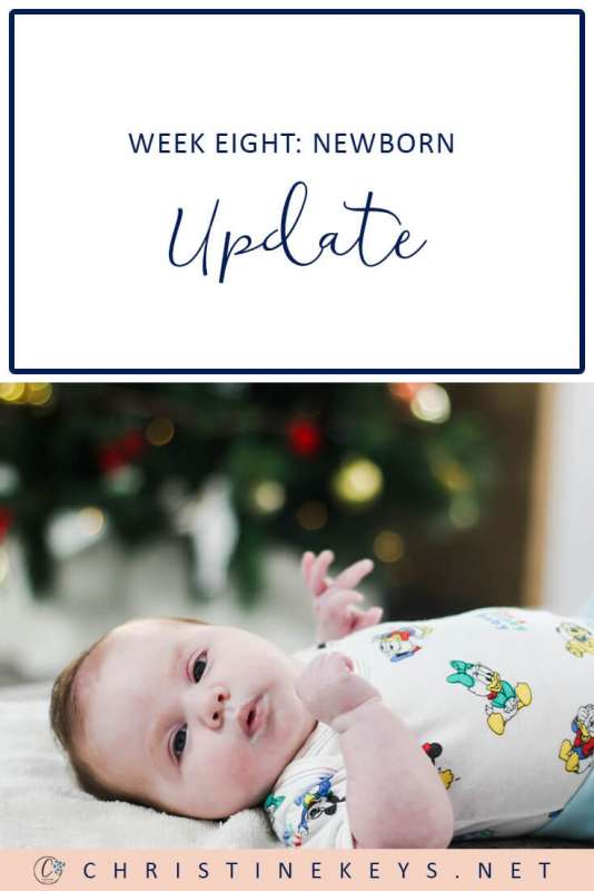 Week Eight: Newborn Update || Take a look at our routine and how the week went. #newborn #routine #sleep #baby #babywise #momsoncall #8weeks