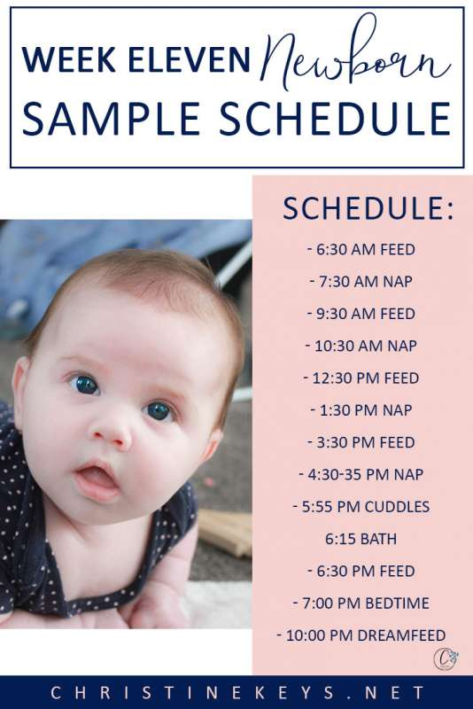Week Eleven Newborn Sample Schedule || Read all about Charlotte's routine in her 11th week as well as the major feeding issues we had and how we eventually found the reason behind them. #baby #babies #newborn #routine #babyroutine #babysleep #babysleeproutine #babyschedule #motherhood #parenting