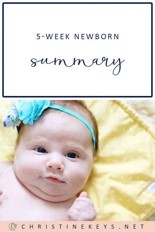 5-Week Newborn Summary || Read all about how Charlotte did in her 5th week and how the new routine worked. #parenting #motherhood #baby #routine #newborn #schedule #sleep #babysleep #momsoncall #babywise