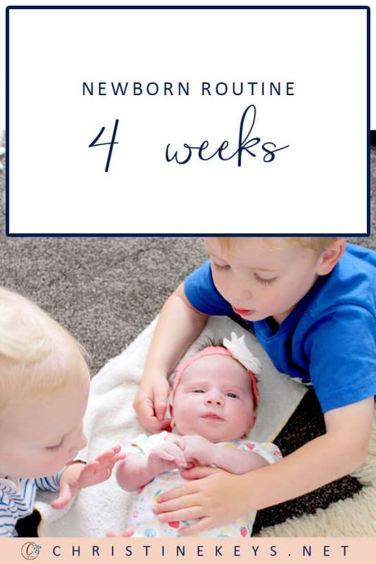 Newborn Routine Four Weeks || Find out what week four looked like for us and what schedule we followed. #parenting #baby #newborn #schedule #routine #sleep #babysleep #motherhood