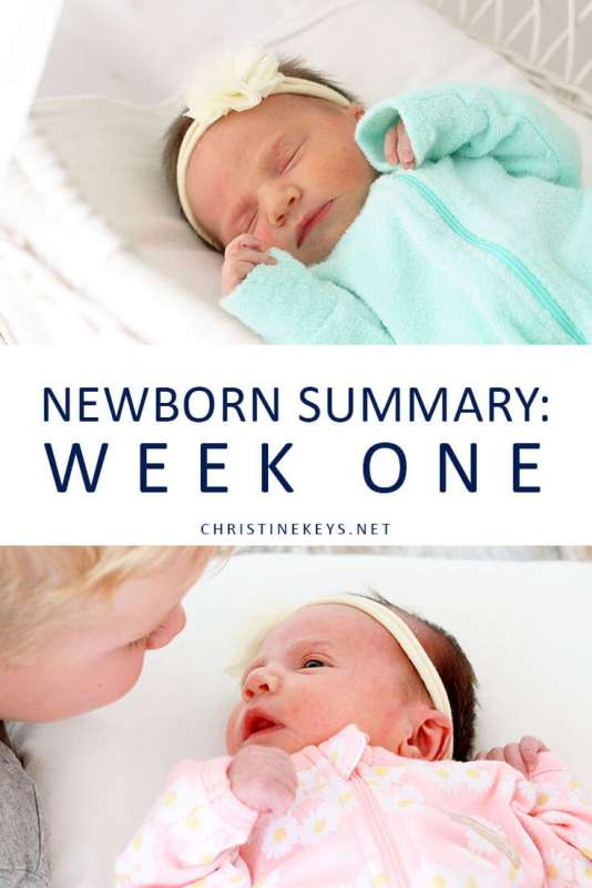 Newborn Summary: Week One || Find out what our first week looked like and what kind of a routine we are loosely following. #motherhood #baby #babies #routine #newborn #babywise #momsoncall