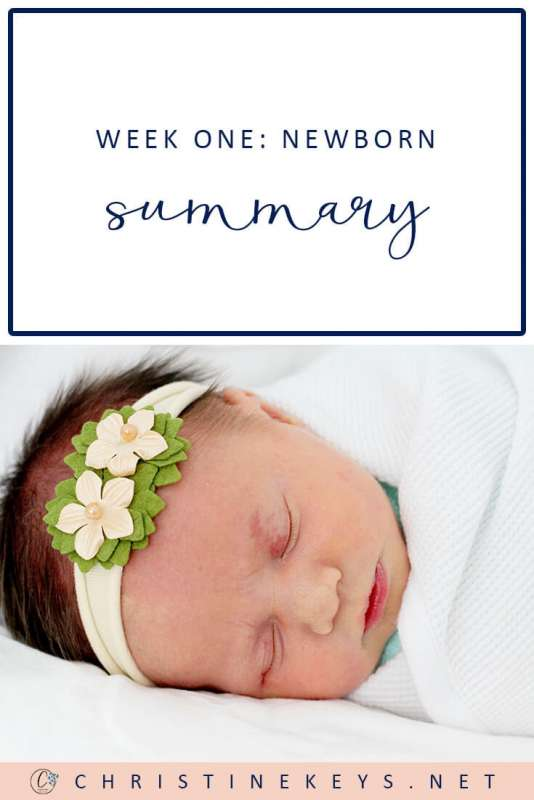 Week One: Newborn Summary || Find out what our first week looked like and what kind of a routine we are loosely following. #motherhood #baby #babies #routine #newborn #babywise #momsoncall