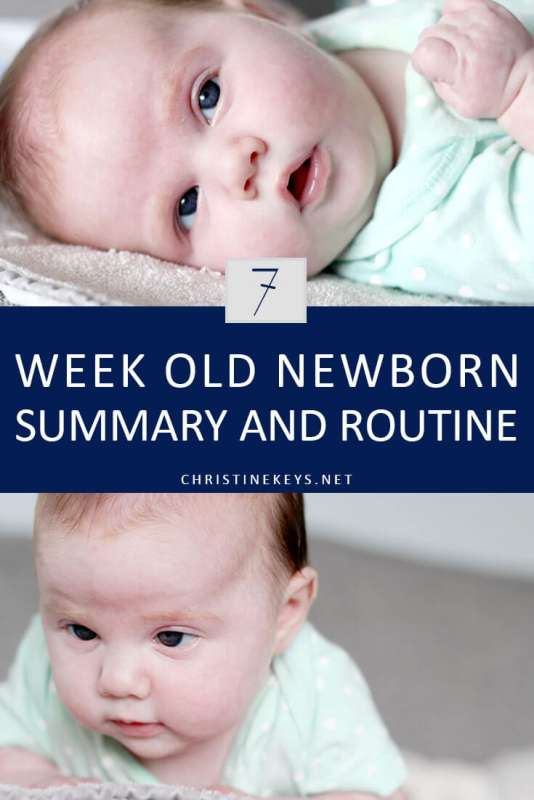 7-Week Old Newborn Summary and Routine || Read about the routine we're using at 7 weeks and how the week went. #newborn #7weeks #schedule #routine #sleep #babysleep #motherhood #parenting