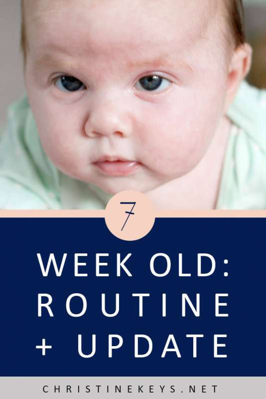 7-Week Old Routine + Update || Read about the routine we're using at 7 weeks and how the week went. #newborn #7weeks #schedule #routine #sleep #babysleep #motherhood #parenting