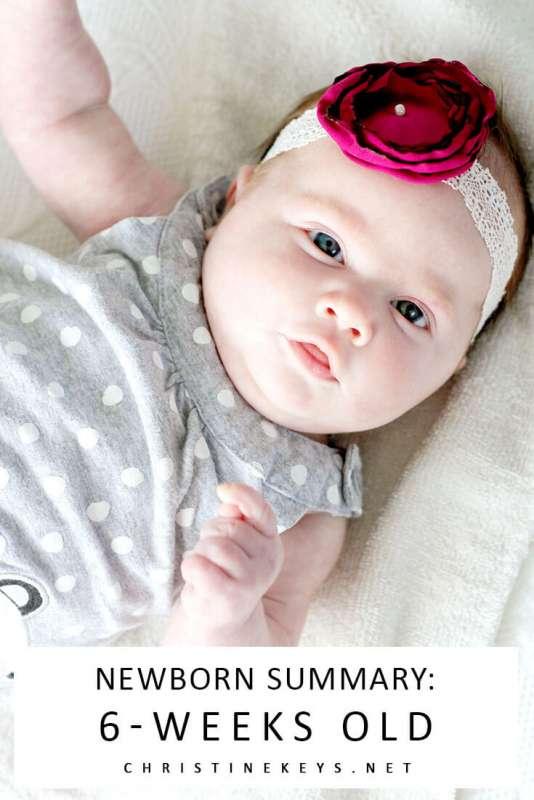 Newborn Summary: 6-Weeks Old || Read about the routine we're following that got our baby girl to sleep through the night. #parenting #baby #newborn #babysleep #momsoncall #sleeptraining #schedule #sleepschedule