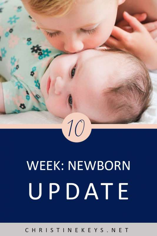 10 Week Newborn Update || Find out how we're dealing with infant reflux while sticking to a great sleep schedule. #babies #newborn #sleep #sleepschedule #babysleep #parenting #routines #motherhood