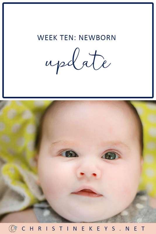 Week Ten Newborn Update || Find out how we're dealing with infant reflux while sticking to a great sleep schedule. #babies #newborn #sleep #sleepschedule #babysleep #parenting #routines #motherhood