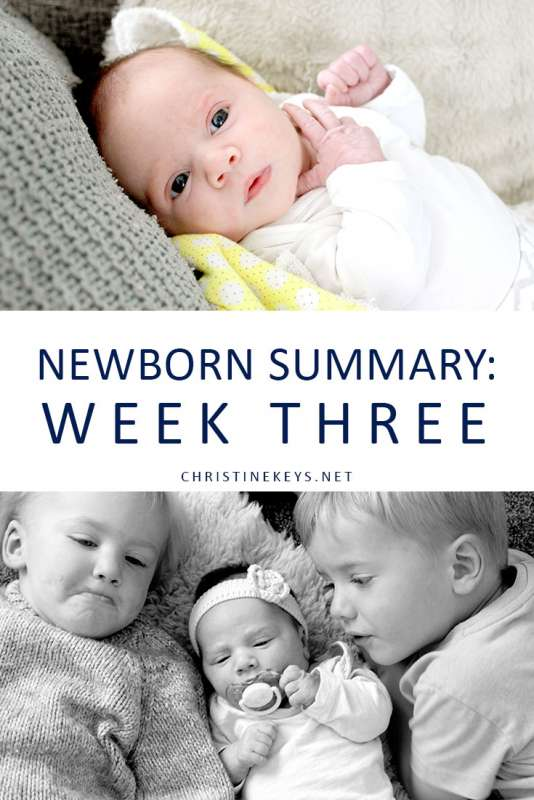 Newborn Summary: Week Three || Take a look at the routine and summary for our 3-week old baby. Find out how we're focusing on instilling healthy sleep habits even this early. #parenting #newborn #newbornsleep #baby #newborn #babywise #momsoncall #sleeptraining