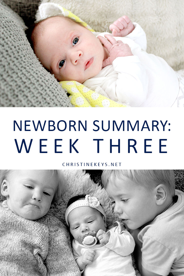 Newborn and siblings