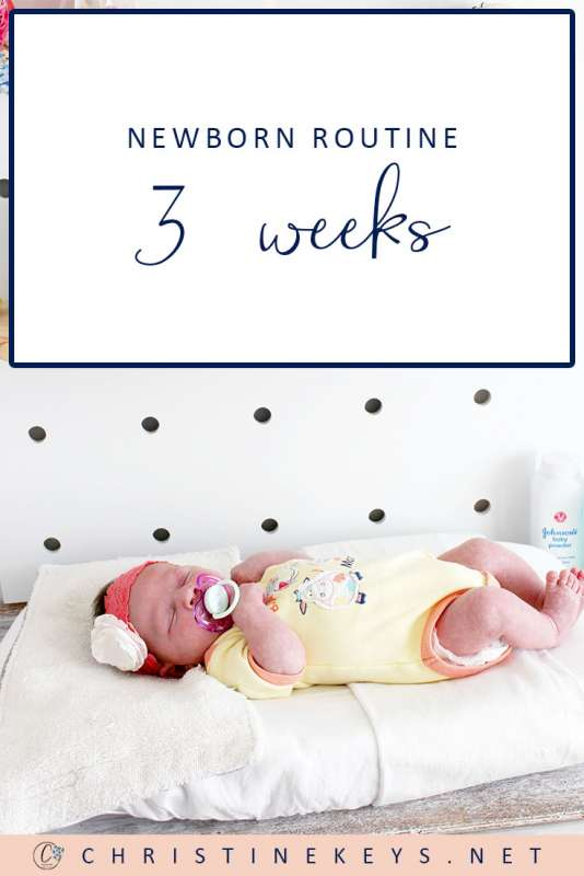 Newborn Routine at 3 Weeks || Take a look at the routine and summary for our 3-week old baby. Find out how we're focusing on instilling healthy sleep habits even this early. #parenting #newborn #newbornsleep #baby #newborn #babywise #momsoncall #sleeptraining