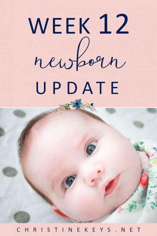 Week 12 Newborn Update || We worked to overcome Charlotte's feeding aversion this week. Find out her current routine and what developments have taken place. #routine #baby #babies #parenting #motherhood #babysleep #schedule