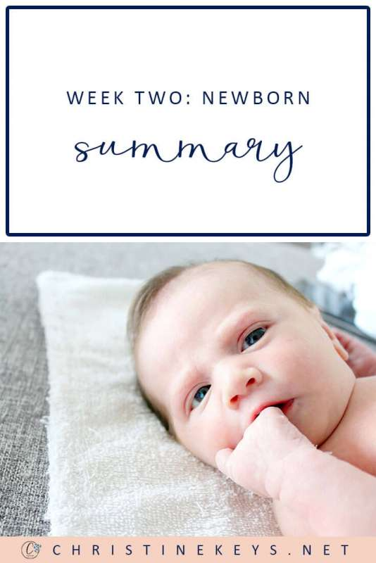 Week Two: Newborn Summary || Read about how things went during week two as well as the routine that we're working towards. #parenting #babies #baby #newborn #postpartum #babywise #momsoncall #routine #babysleep