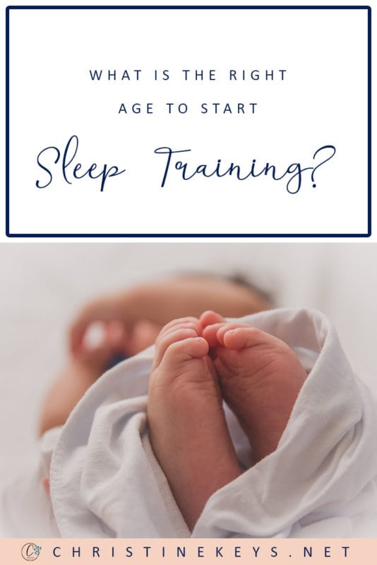 What is the Right Age to Start Sleep Training? || When should you start to sleep train your baby, if at all? Is there a right time? Find out in this post! #parenting #babies #sleeptraining #sleep #babysleep #motherhood
