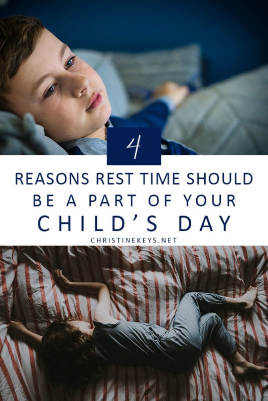 4 Reasons Rest Time Should Be a Part of Your Child's Day || Find out the reasons that rest time is a very important part of your child's day. #parenting #toddlers #naps #sleep #motherhood
