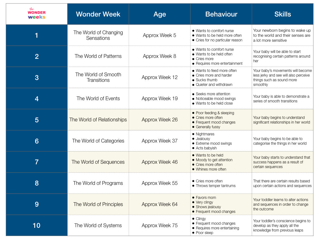 Wonder Weeks Chart